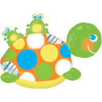Happy Turtle and Frogs Balloon in a Box