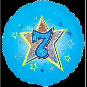7 Blue Stars Balloon in a Box