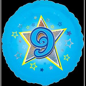 9 Blue Stars Balloon in a Box