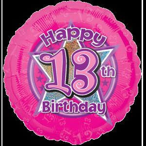 Pink Stars 13 Birthday Balloon in a Box