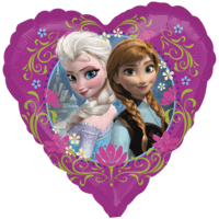 Disney's Frozen Anna and Elsa Love Heart Balloon in a Box