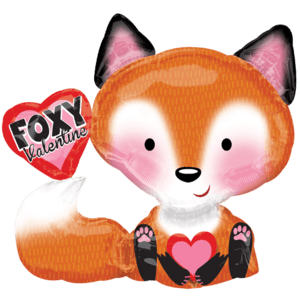Foxy Valentine Cute Balloon in a Box