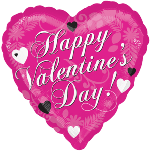 "18"" Happy Valentine's Day Hearts Balloon in a Box"