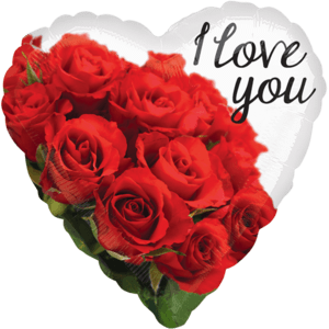 """18"""" I Love You Rose Bouquet Balloon in a Box"""