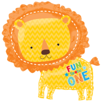 Cuddley Lion 1st Birthday Boy Balloon in a Box