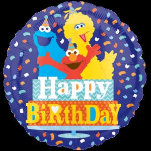 Happy Birthday Sesame Street Balloon in a Box
