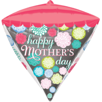 "15"" Mother's Day Floral Diamondz Balloon in a Box"