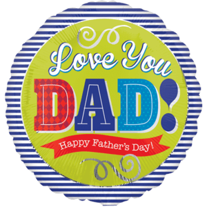 Love You Dad Fathers day Balloon in a Box