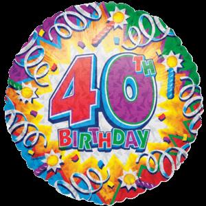 Fortieth Birthday Razz Balloon in a Box