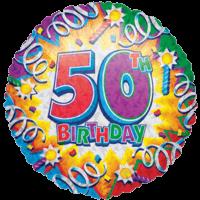 Fiftieth Birthday Razz Balloon in a Box