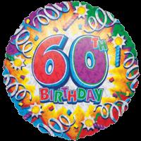 Sixtieth Birthday Razz Balloon in a Box