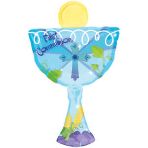 First Communion Blue Chalice