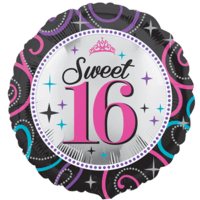 """18"""" Sweet 16 Sparkle Pink Balloon in a Box"""
