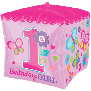 Pink 1st Happy Birthday Balloon in a Box