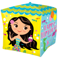 Birthday Mermaid Cubez Balloon in a Box