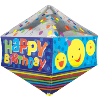 "21"" Fun Happy Birthday Anglez Balloon in a Box"