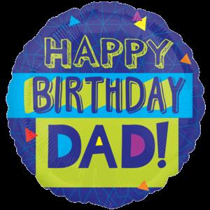 Blue Birthday Dad Balloon in a Box