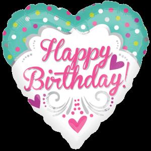Birthday Princess Swirls Balloon in a Box