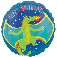 "18"" Dragon Print Birthday Balloon in a Box"