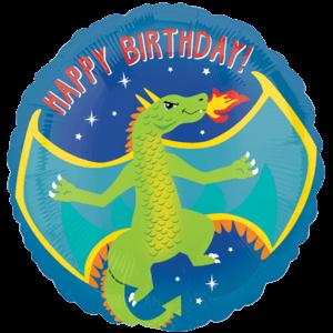 "18"" Dragon Print Birthday Balloon in a Box"