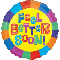 Rainbow Feel Better Soon Balloon in a Box