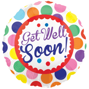 Colourful Dots Get Well Soon Balloon in a Box