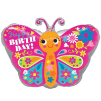 Happy Birthday Butterfly Balloon in a Box