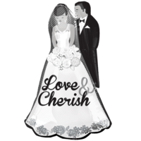 "34"" Love and Cherish Couple Balloon in a Box"