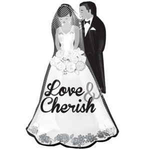 Love and Cherish Wedding SuperShape