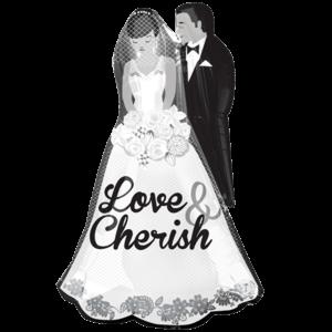 "34"" Love and Cherish Couple Balloon in a Box"