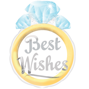 Best Wishes Ring Balloon in a Box