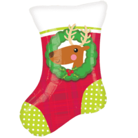 Festive Reindeer Christmas Stocking Balloon in a Box