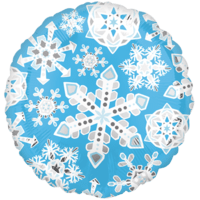 Blue Frozen Snowflakes Balloon in a Box