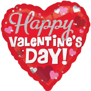 "18"" Happy Silver Valentine's Day! Balloon in a Box"