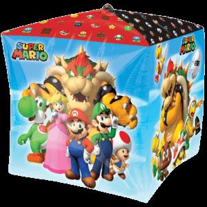 Super Mario Bros Characters Cubez Balloon in a Box