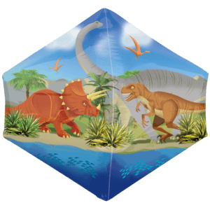 "21"" Dinosaur World Anglez Balloon in a Box"