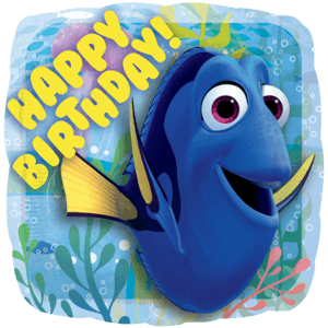 "Finding Dory Birthday 18"" Balloon in a Box"