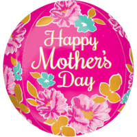 "16"" Orbz Happy Mother's Day Pink Flowers Balloon in a Box"