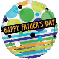 "18"" Father's Day Stripes & Dots Balloon in a Box"