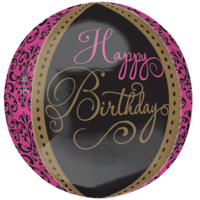 "16"" Fabulous Damask Birthday Orbz Balloon in a Box"