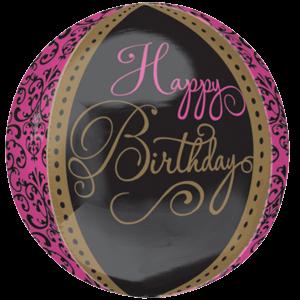 Damask Happy Birthday Orbz