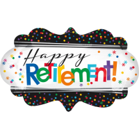 Happy Retirement Plaque Balloon in a Box