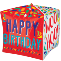 "15"" Happy Birthday Party Time Cubez Balloon in a Box"