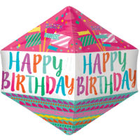 "21"" Happy Birthday Decorative Flags Anglez Balloon in a Box"