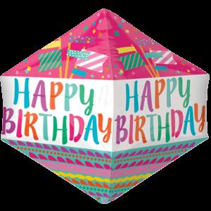 Happy Birthday Colourful Flags Anglez