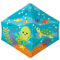 "21"" Under the Sea Friends Anglez Balloon in a Box"