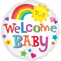 Welcome Baby Rainbow Balloon in a Box