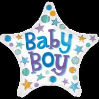 Baby Boy Stars Balloon in a Box