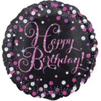 Pink Prismatic Happy Birthday Balloon in a Box
