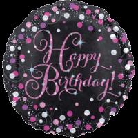 Pink Happy Birthday Celebration Balloon in a Box